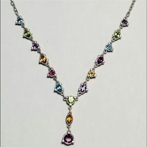 Ripka Sterling Silver necklace auth stones